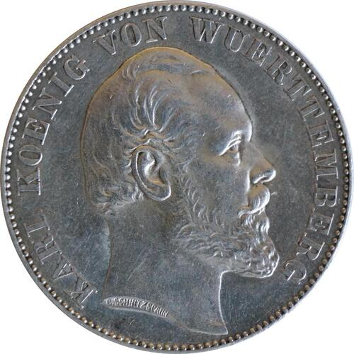 Rückseite:Deutschland : 1 Siegestaler   1871 vz.