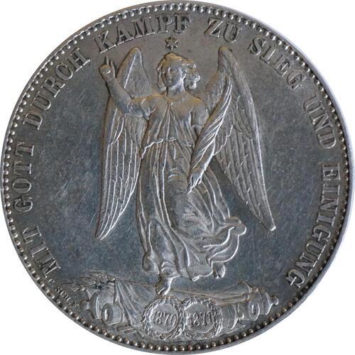 Vorderseite:Deutschland : 1 Siegestaler   1871 vz.