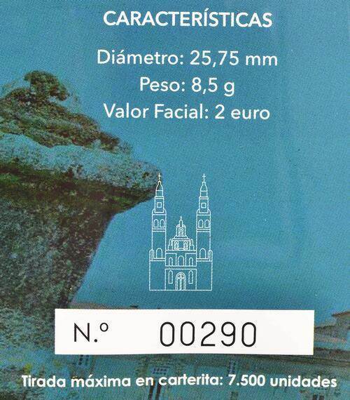 Zertifikat:Spanien : 2 Euro Santiago de Compostela   2018 PP