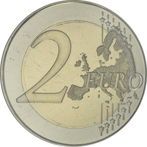 Vorderseite:Spanien : 2 Euro 50. Geburtstag von König Felipe VI   2018 PP