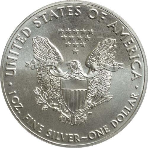 """Rückseite :USA : 1 Dollar Silber Eagle - 60 Jahre NASA """"Skylab  2018 Stgl."""