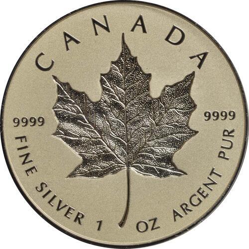 Vorderseite:Kanada : 20 Dollar 30 Jahre Maple Leaf - Incuse  2018 PP