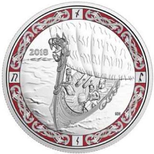 Lieferumfang:Kanada : 20 Dollar Nordische Galionsfiguren Viking Voyage  2018 PP