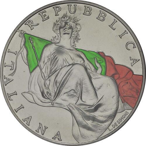 Vorderseite:Italien : 10,88 Euro KMS Italien incl. 2 Euro und 5 Euro Verfassung  2018 Stgl.