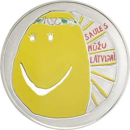 Vorderseite:Lettland : 5 Euro Mein Lettland - meine Sonne  2018 PP