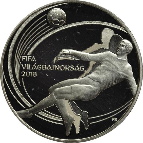 Vorderseite:Ungarn : 5000 Forint FIFA Fußball WM  2018 PP