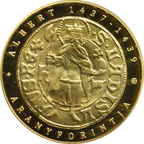 Vorderseite:Ungarn : 50000 Forint Goldflorin von Albert von Habsburg  2018 Stgl.