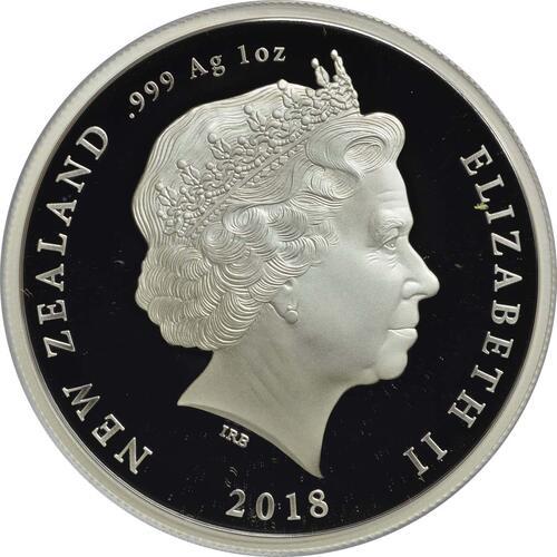 Rückseite:Neuseeland : 1 Dollar Le Quesnoy - WW1  2018 PP
