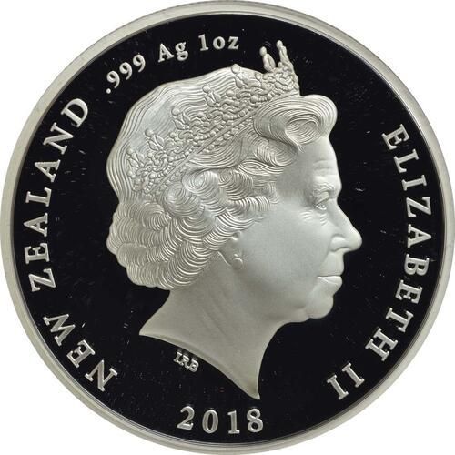 Rückseite:Neuseeland : 1 Dollar Luftwaffe - 5 Jahres Serie WW1  2018 PP