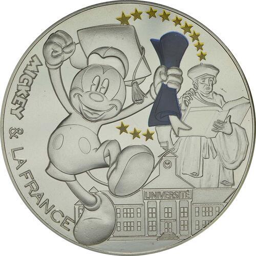 Vorderseite :Frankreich : 50 Euro Micky als Student - coloriert  2018 bfr