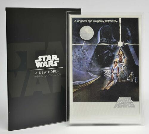 Lieferumfang :Niue : 2 Dollar Star Wars - A New Hope - Poster - Premium Silver Foil  2018 Stgl.