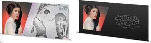 Lieferumfang:Niue : 1 Dollar Star Wars - Prinzessin Leia Organa - Silberbanknote  2018 Stgl.