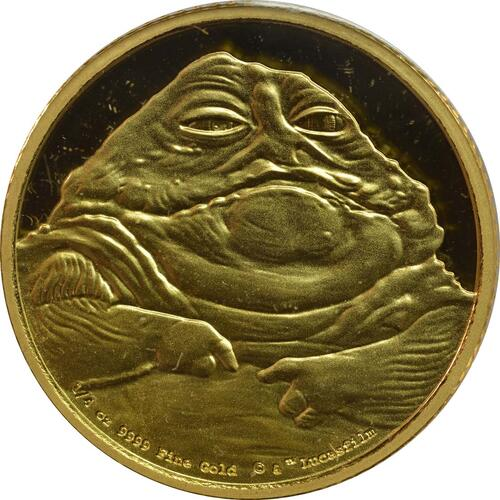 Vorderseite:Niue : 25 Dollar Star Wars - Jabba the Hutt  2018 PP