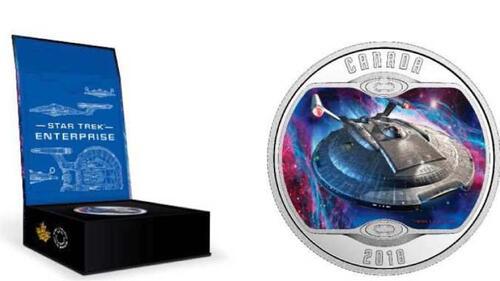 Lieferumfang:Kanada : 10 Dollar Star Trek - Enterprise NX-01  2018 PP
