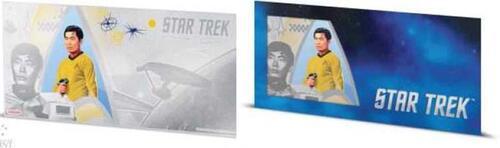 Lieferumfang:Niue : 1 Dollar Star Trek - Sulu Silberbanknote  2018 Stgl.