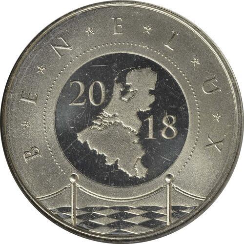 Rückseite:Belgien : 11,64 Euro KMS Benelux  2018 Stgl.