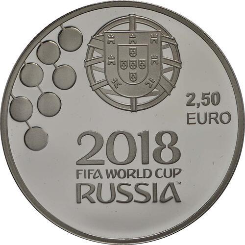 Rückseite:Portugal : 2,5 Euro FIFA Fußball WM  2018 PP