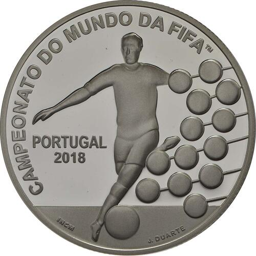 Vorderseite :Portugal : 2,5 Euro FIFA Fußball WM  2018 PP