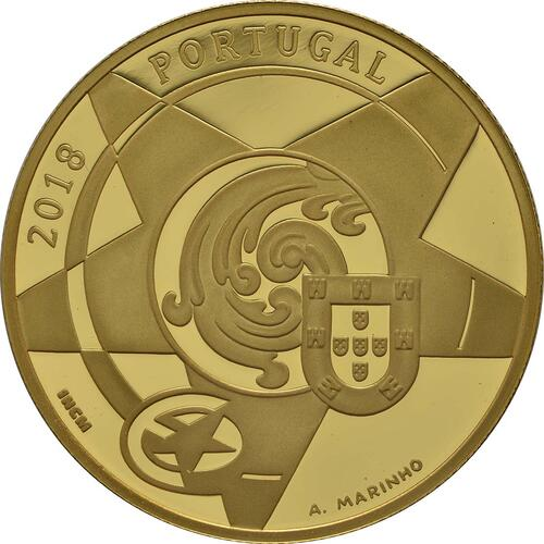 Rückseite :Portugal : 5 Euro Barock und Rokoko  2018 PP