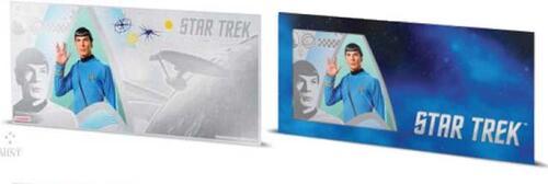 Lieferumfang:Niue : 1 Dollar Star Trek - Spock Silberbanknote  2018 Stgl.