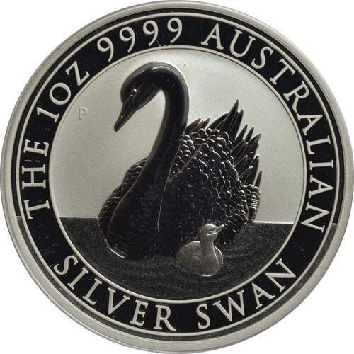 Vorderseite:Australien : 1 Dollar Schwan  2018 Stgl.