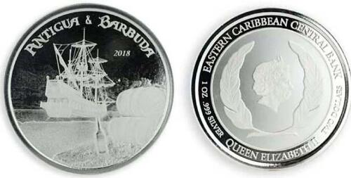 Lieferumfang :Antigua und Barbuda : 2 Dollar Rum Runner  2018 Stgl.
