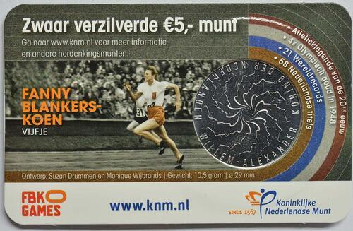 Zertifikat:Niederlande : 5 Euro Fanny Blankers-Koen  2018 bfr