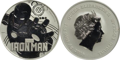 Lieferumfang:Tuvalu : 1 Dollar Iron Man  2018 Stgl.