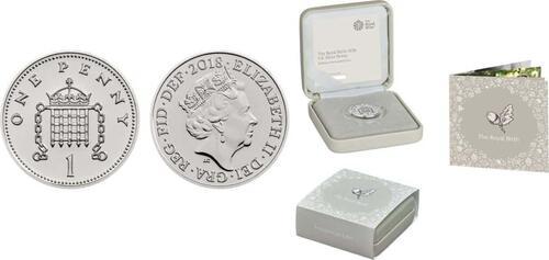 Lieferumfang :Großbritannien : 1 Penny Silver Penny zur Royalen Geburt  2018 Stgl.