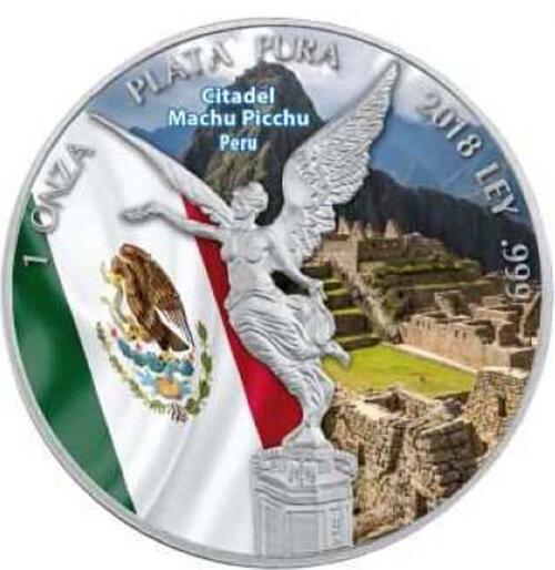 Lieferumfang:Mexiko : 1 Onza Siegesgöttin - Zitadelle Machu Picchu  2018 Stgl.