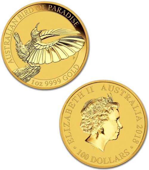 Lieferumfang:Australien : 100 Dollar Victoria Paradiesvogel  2018 Stgl.