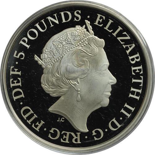 Rückseite:Großbritannien : 5 Pfund Königliche Hochzeit - Harry und Meghan  2018 PP