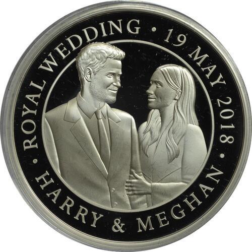 Vorderseite:Großbritannien : 5 Pfund Königliche Hochzeit - Harry und Meghan  2018 PP