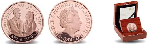 Lieferumfang:Großbritannien : 5 Pfund Königliche Hochzeit - Harry und Meghan  2018 PP