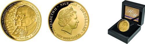 Lieferumfang :Niue : 100 Dollar Royal Wedding - Harry und Meghan  2018 PP