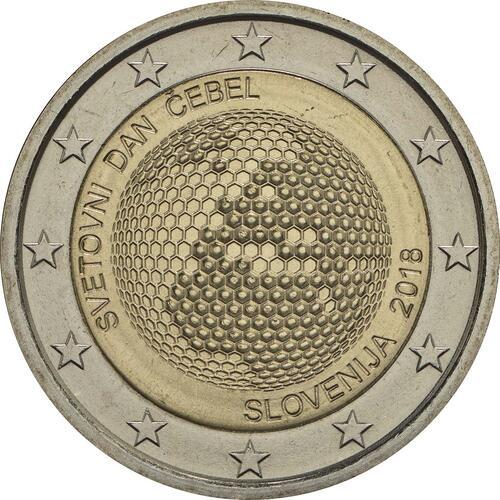 Rückseite:Slowenien : 2 Euro Weltbienentag  2018 bfr