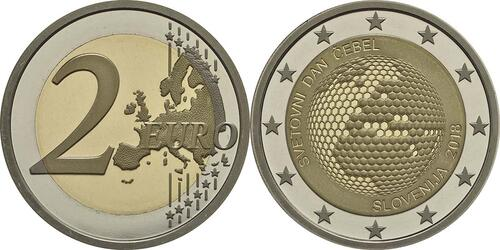 Lieferumfang:Slowenien : 2 Euro Weltbienentag  2018 PP
