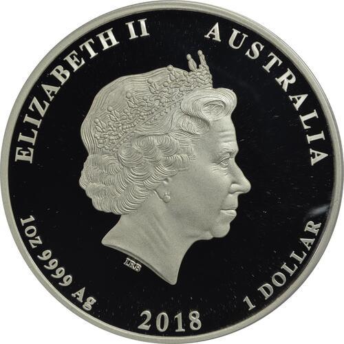 Rückseite:Australien : 1 Dollar Royal Wedding - Harry & Meghan  2018 PP