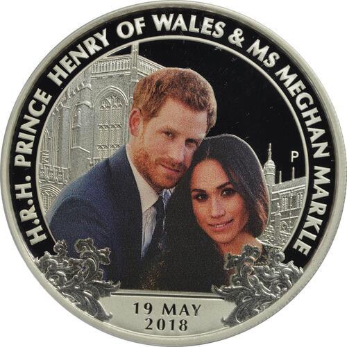 Vorderseite:Australien : 1 Dollar Royal Wedding - Harry & Meghan  2018 PP