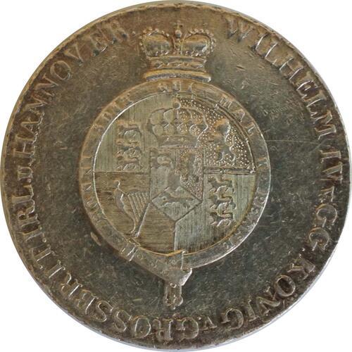 Rückseite:Deutschland : 2/3 Taler Wilhem IV 1830 - 1837 winz. Kratzer 1833 ss/vz.