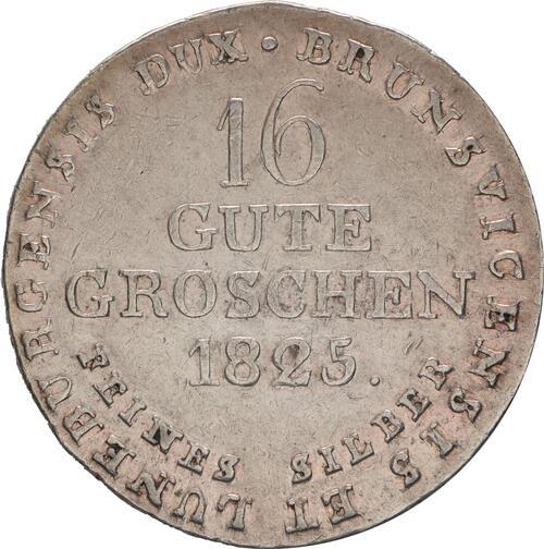 Rückseite:Deutschland : 16 Gute Groschen Georg IV  1825 ss/vz.