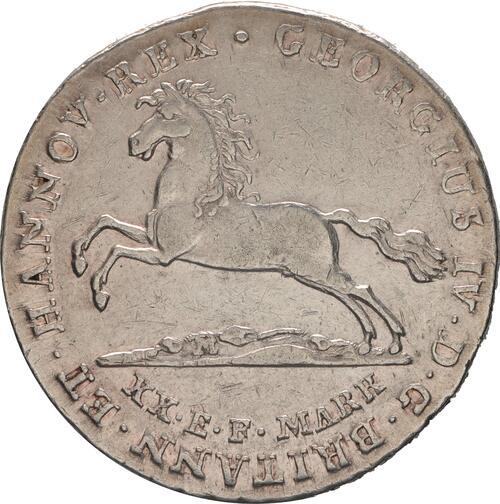Vorderseite:Deutschland : 16 Gute Groschen Georg IV  1825 ss/vz.