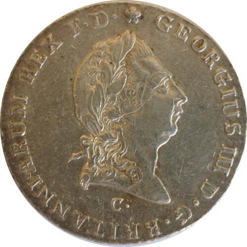 Rückseite:Deutschland : 2/3 Taler Georg III 1760 - 1820  1814 ss/vz.
