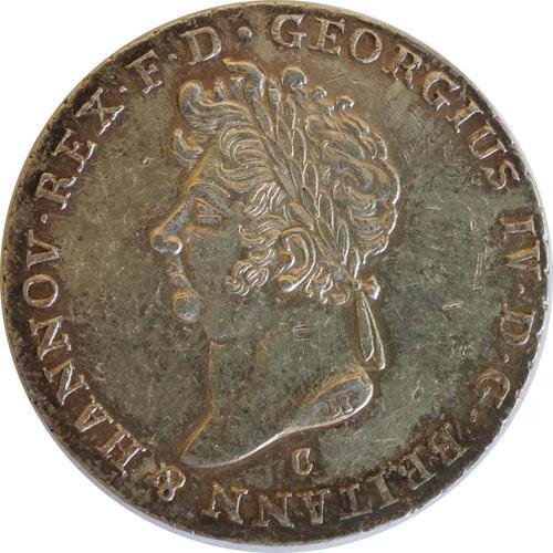 Rückseite:Deutschland : 2/3 Taler Georg IV 1820 - 1830 patina, Kratzer 1826 ss.