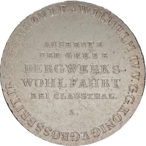 Vorderseite:Deutschland : 2/3 Ausbeutetaler Wilhelm IV Kratzer, -selten- 1833 ss/vz.