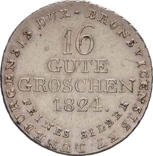 Rückseite :Deutschland : 16 Gute Groschen Georg IV 1820 - 1830  1824 ss/vz.