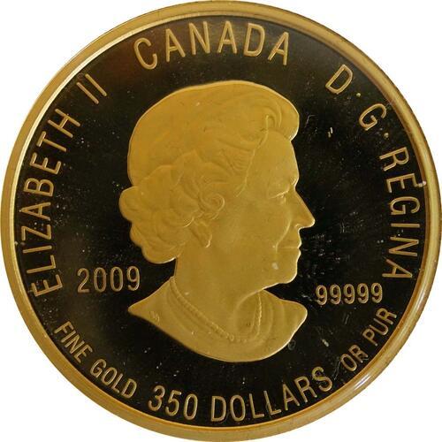 Rückseite:Kanada : 350 Dollar Schlauchpflanze  2009 PP