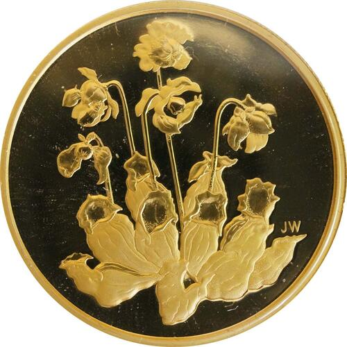 Vorderseite:Kanada : 350 Dollar Schlauchpflanze  2009 PP