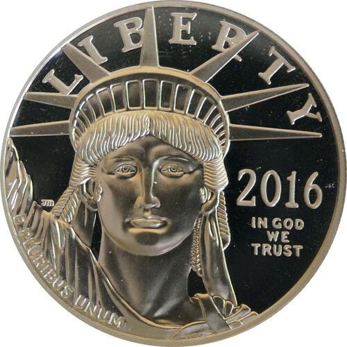 Vorderseite:USA : 100 Dollar Platin Eagle  2016 PP