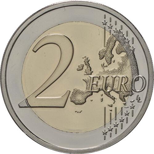Vorderseite:Belgien : 2 Euro Studentenaufstand 1968  2018 PP